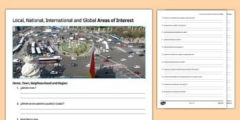 General Conversation Home Town Neighbourhood & Region Question List