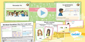 PlanIt - French Year 5 - All About Ourselves Lesson 2: What Do I Look Like? Lesson Pack