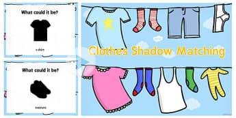 Clothes Shadow Matching PowerPoint - clothes, shadow, match