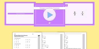 KS2 Reasoning Test Practice Compare And Order Fractions Resource Pack - Key Stage 2, Reasoning Test, Practice, Fractions, Decimals, Percentages, Year 6, Compare, Order