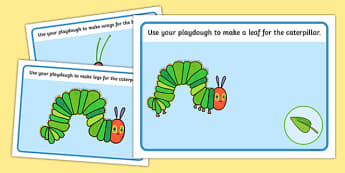 Playdough Mats to Support Teaching on The Very Hungry Caterpillar - The Very Hungry Caterpillar,  Eric Carle, resources, Hungry Caterpillar, life cycle of a butterfly, days of the week, food, fruit, story, story book, story book resources, story sequ