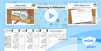 PlanIt Y3 Measurement Lesson Pack Length (3) - Measurement, measure, millimetres, ruler, estimate, measure and compare, add and subtract length.