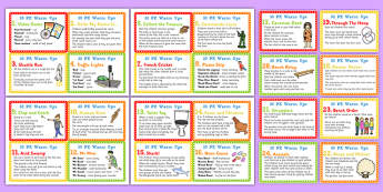 30 Warm Up Ideas for PE Cards - pe, warm up, activities, ideas, 30
