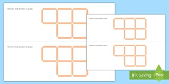 Square 2D Shape Puzzle Activity Pack - square, visual, puzzle, problem solving, critical thinking, shape and space, maths,Irish