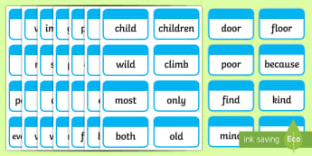 Year 2 Common Exception Words Flashcards - flashcards, exception