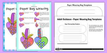 Paper Bag Weaving Instructions Craft Instructions Pack - paper bag, weaving, instructions, craft