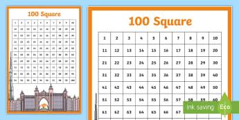 UAE Themed 100 Square - UAE Maths Resources, 100 square, uae themed, resources,