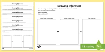 Making Inference from Text Activity Sheets - Inferences, inferencing, inferring, drawing inferences,comprehension, autism, worksheets