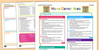Home Corner Continuous Provision Plan Posters Nursery FS1 - planning