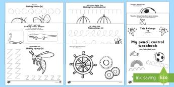 Pencil Control and Scissor Skill Resource Pack Arabic/English - Pencil COntrol and Scissor Skills Resource Pack - Fine Motor Skills, Pencil Control, Handwriting, Sc