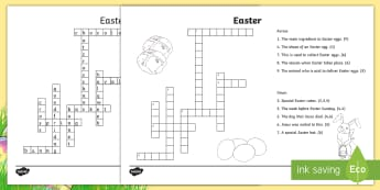 Easter Crossword - ROI, Easter, Activities, crossword, puzzle, word, answer, quiz, problem solving, game, clue,Irish