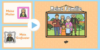 German Family Members PowerPoint - german, family members, powerpoint