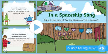In a Spaceship Song PowerPoint - EYFS, Early Years, Aliens Love Underpants, Claire Freedman, space, aliens.