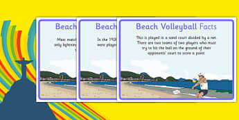 Rio 2016 Olympics Beach Volleyball Display Facts - rio 2016, 2016 olympics, rio olympics, beach volleyball, display facts