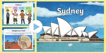 Sydney Information PowerPoint - sydney, sydney powerpoint, australia powerpoint, capital cities, information about sydney, sydney, places, ks2 geography