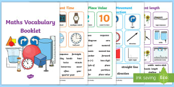Maths Vocabulary Booklet - Maths Vocabulary Booklet - Maths, Vocabulary, Poster, maths vocabularly, matsh, 2D shape, 3D shape,