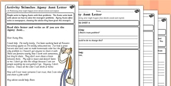 Fantastic Mr Fox Agony Aunt Letter to Bean Worksheet - mr fox
