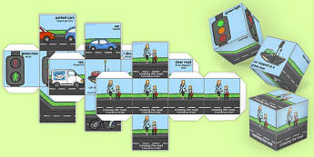 Road Safety Dice Romanian Translation - romanian, road safety, dice, safety, road, activity