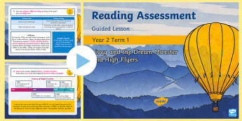 Year 2 Term 1 Paper 2 Reading Assessment Guided Lesson PowerPoint - Y2, SATS, SAT, booklet, assessment, assess, KS1, fiction, non-fiction, review, papers, read, end of