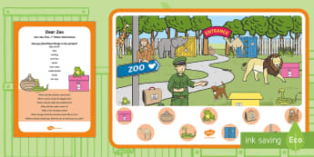 Can You Find...? Poster and Prompt Card Pack to Support Teaching on Dear Zoo - Dear Zoo, Rod Campbell, animals, letter to the zoo, I spy, spot, zoo animals, wild animals