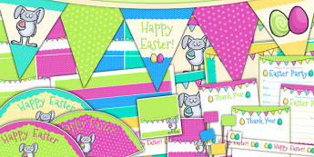 Easter Party Pack - easter, easter party, party, RE, birthday
