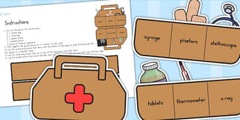 Doctors Surgery Doctors Bag - doctors role play, props, doctor