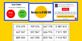 Year 6 Numbers to 1,000,000 Lesson 1 Teaching Pack - year 6, numbers, pack