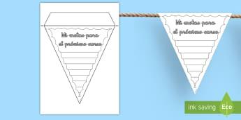 Banderitas de exposición: Mis metas - Fin de curso - banderitas, exposición, exponer, decoración, decorar, mis metas, metas, logros, banderita,Spanish