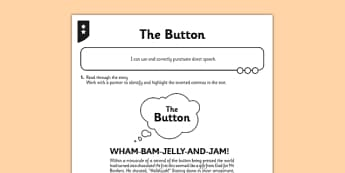 The Button Activity Sheet - the button, activity sheet, activity, button, reading, read, worksheet