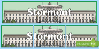 Stormont Display Banner - NI Politics, Government, Assembly, Local, Election, Stormont
