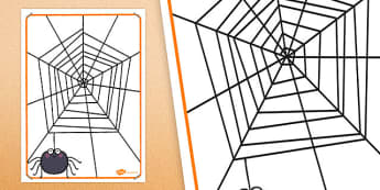 Finger Gym A3 Spider Web Cut Out - finger gym, spider web, cut out