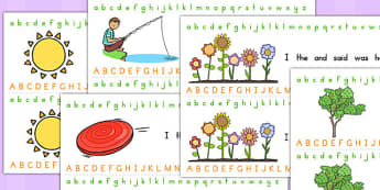 Spring Alphabet Strip - visual aid, writing aid, seasons, weather