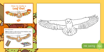 Leaf Owl Craft Instructions