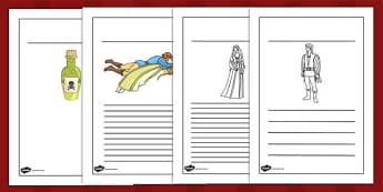 Romeo and Juliet Writing Frames - shakespeare, writing aid, write