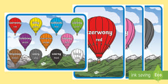Polish Colours A4 Display Poster - Polish/English - Polski / Angielski--translation - Language Packs,polish, colours