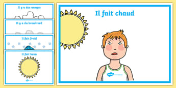French Weather Display Posters - French, Weather, Display, Poster