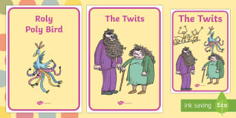 Display Posters to Support Teaching on The Twits - display posters, display, posters, the twits, roald dahl