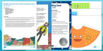 Editable Deep-Sea Diver Letter Resource Pack - Under the Sea, fish, water, topic, hook, starter, ocean, underwater