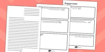 Evacuee Letter Writing Frame Arabic Translation - arabic, evacuee, letter, writing