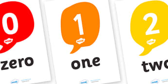 Number and Word Posters (0-30) - Number posters, 0-30, Number names, Number words, Numerals, Foundation Numeracy, Number recognition, Number flashcards