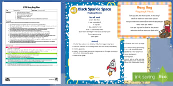 EYFS Playdough Picnic Busy Bag Plan and Resource Pack - Whatever Next, Jill Murphy, space, role-play, playdough