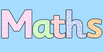 Maths with Numbers Title Display Lettering - maths, numbers, title, display lettering