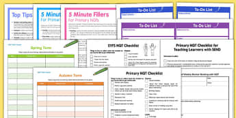 NQT Teaching File Resource Pack - Newly qualified teacher, information, facts, help, organisation