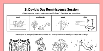 Elderly Care St David's Day Reminiscence Session - Elderly, Reminiscence, Care Homes, St. David's Day