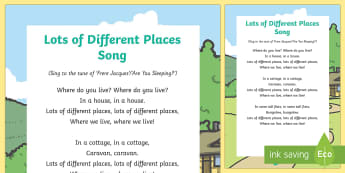 Lots of Different Places Song