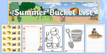 Summer Holiday Bucket List Resource Pack - summer holiday bucket list, summer, bucket list
