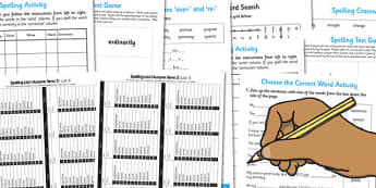 Year 4 Autumn Term Spelling Lists and Resources Pack - spelling