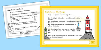 A4 Lighthouse Maths Challenge Poster - challenge poster, maths