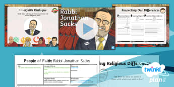 PlanIt - RE Year 4 - People of Faith Lesson 3: Rabbi Jonathan Sacks Lesson Pack - Rabbi Jonathan Sacks, Judaism, Jewish, Jew, beliefs, actions, interfaith dialogue