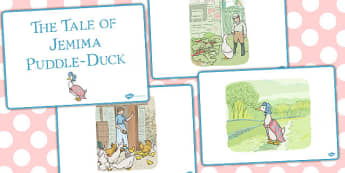 The Tale of Jemima Puddle Duck Story Sequencing - jemima puddle-duck